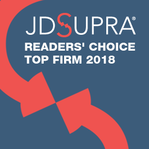 JD Supra Readers' Choice Top Firm 2018 Badge